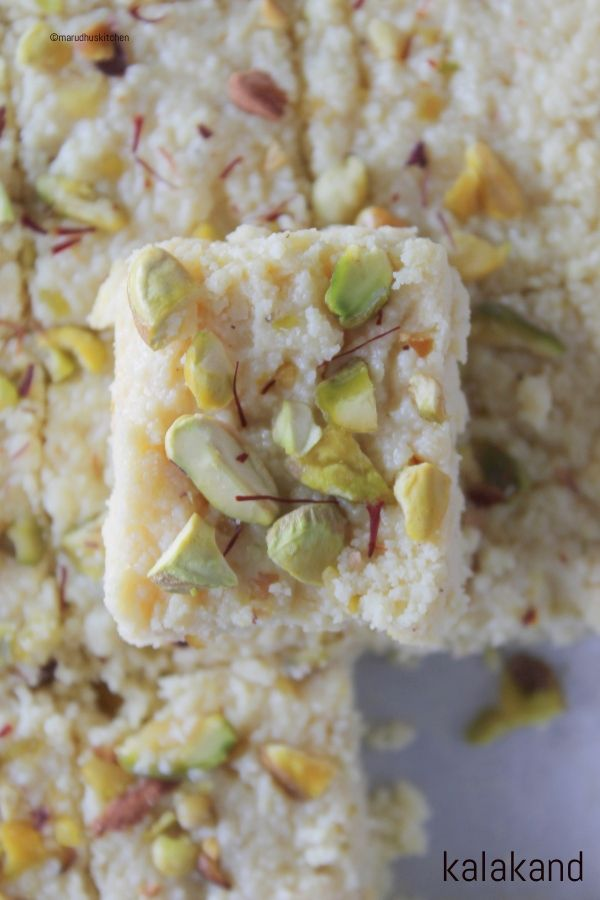 Kalakand Recipe With Condensed Milk Kesar Kalakand Burfi Marudhuskitchen Recipe In 2020 Kalakand Recipe Condensed Milk Recipes Sweet Dishes Recipes