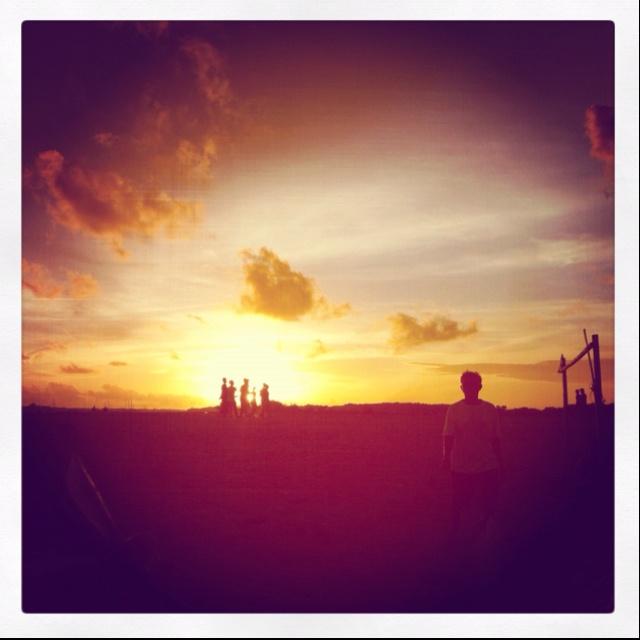 sunset football #sunset #bali #streetphotography