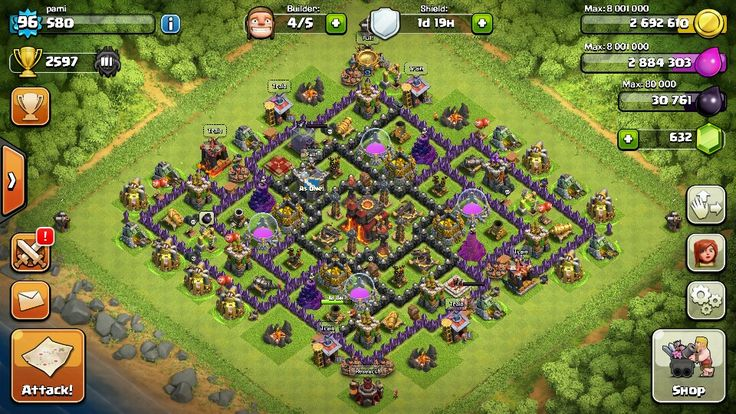 clash of clans master league base layout
