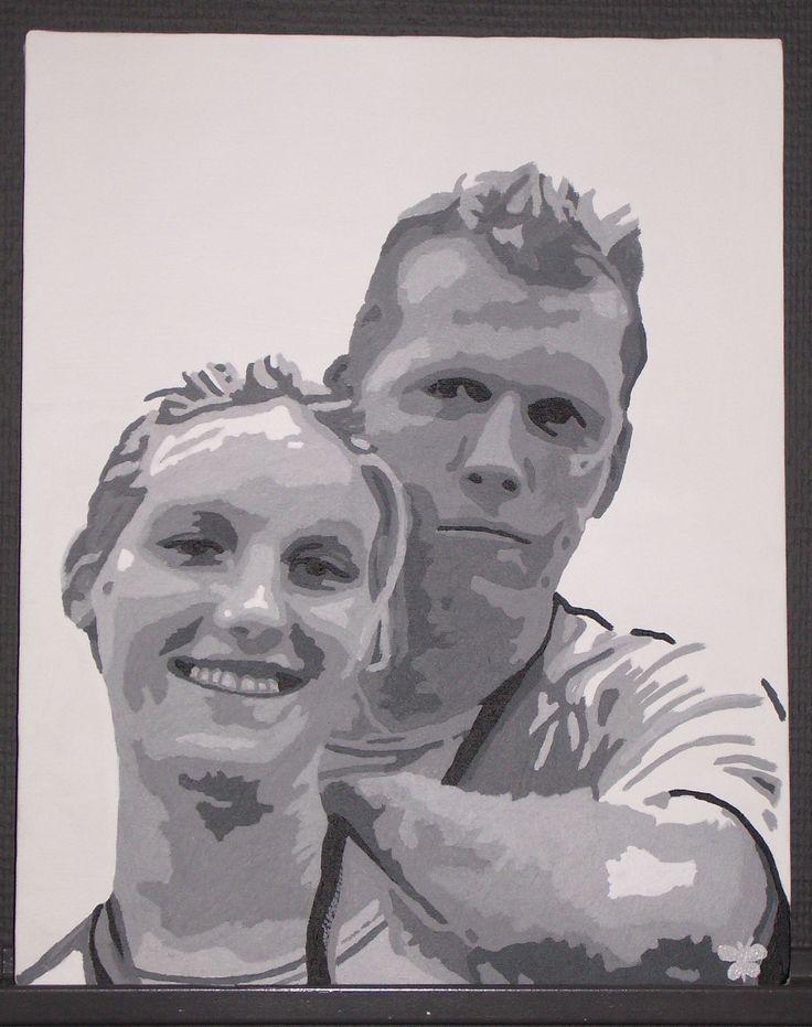 Schilderij van Roely en Alex