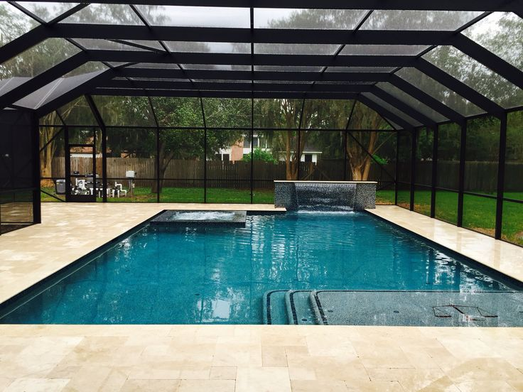 Spa Pool Ideas box hill install endless spas and pools swim spa with mod wood decking and bluestone Beautiful Custom Swimming Pool With Floating Spa In Screened Room By Kyle Franco With Premier