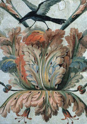 D marrage de feuilles d 39 acanthe sur un papier peint du xviiie si cle ilustraciones pinterest - Feuille d acanthe ...