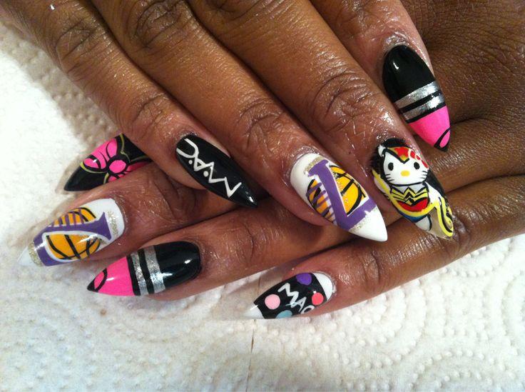 Neon Stiletto Nails Tumblr - http://www.mycutenails.xyz/neon-stiletto-nails-tumblr.html