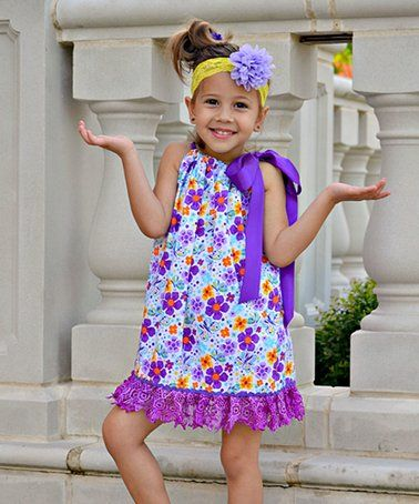 5f353be47ede Purple   Blue Floral Pillowcase Dress - Toddler   Girls  zulily ...