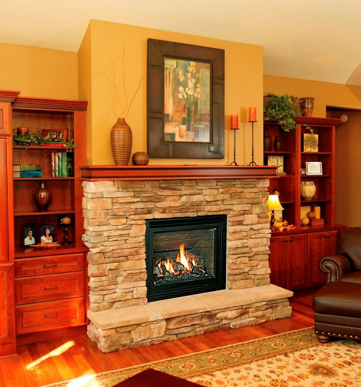 Raised Hearth Fireplace Designs: Fireplace Makeover Ideas