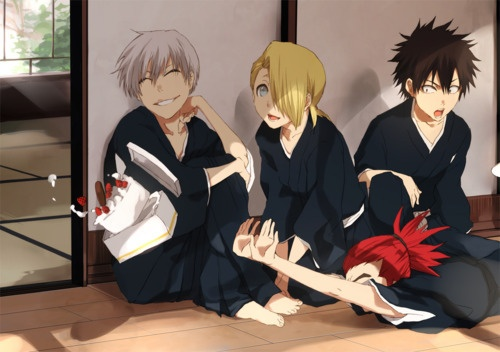 Baby gin, baby hisag, baby izuru and baby  renji!I know they are not babies but I like to call little kids babies.