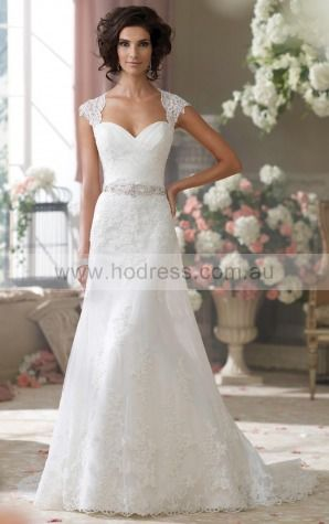 A-line Sweetheart Empire Sleeveless Floor-length Wedding Dresses wds0153--Hodress