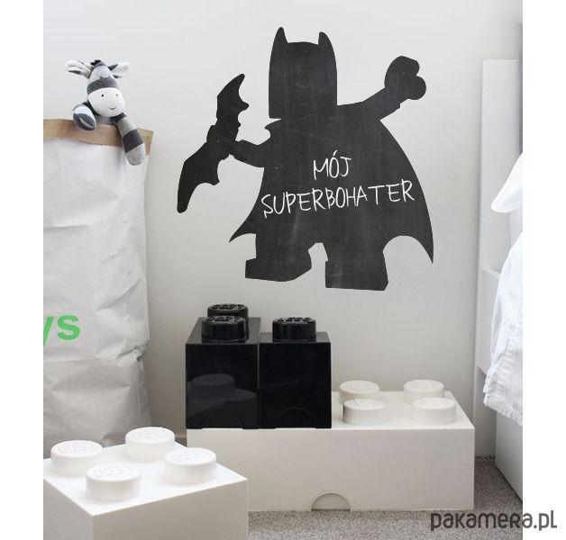 pokój dziecka - naklejki ścienne-LEGO BATMAN naklejka tablicowa, folia kredowa
