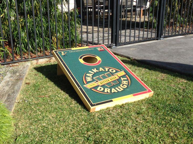 Custom Design - WAIKATO DRAUGHT - Willie the Waiter. California Sandbag, New Zealand, Corn-hole, Bago, Gaming, Back yard, Beach, Bag Toss. #californiasandbagnz