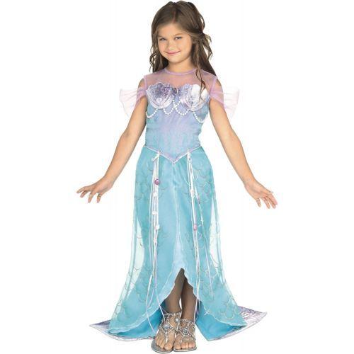 Deluxe Mermaid Costume Kids Little Ariel Halloween Fancy Dress   eBay
