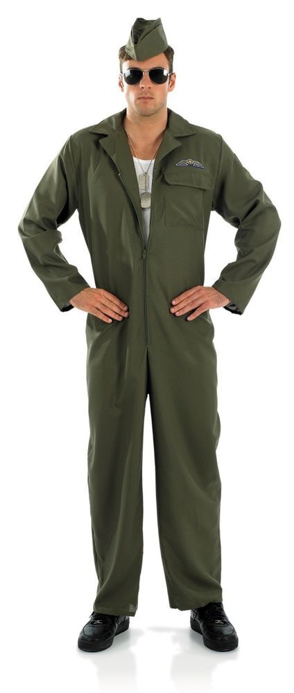 88705a9dee0a Aviator Top Gun Adult Fancy Dress Costume by Fun Shack Mens Size L  TopGun   Jumpsuit .comQuesting Tom Cruise