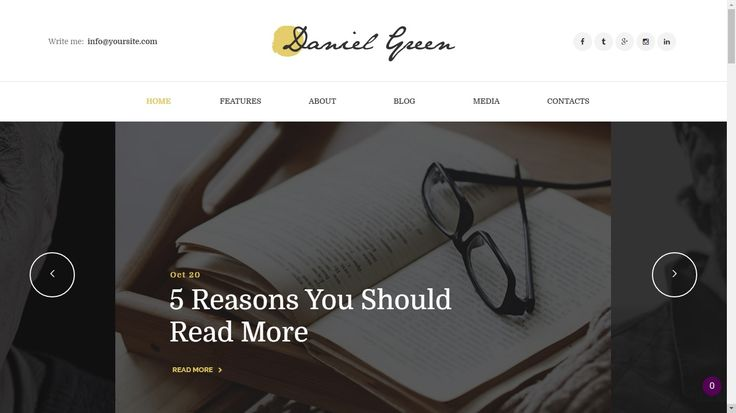 5 Wordpress Themes for Professional Authors
