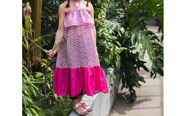 Tutorial: Bohemian maxi dress for girls