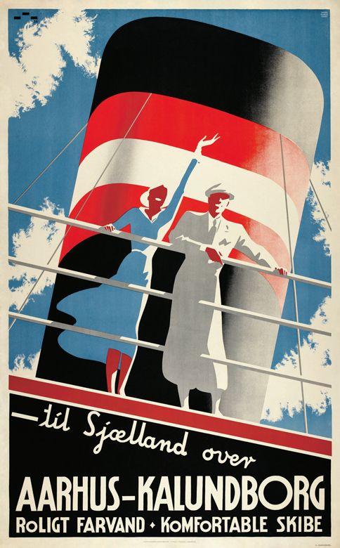 Vintage Reise Poster Skandinavien