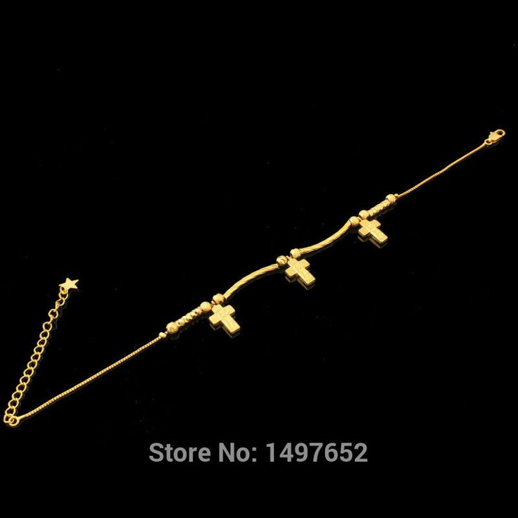 New Trendy Cross Bracelets For Women Fashion Jewelry Gold Filled Plated Charm Bracelet Free Shipping