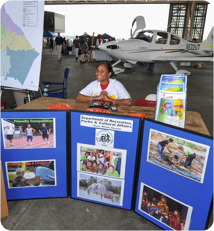 DeKalb County Department of Recreation, Parks & Cultural Affairs exhibiting at the Good Neighbor Day Airshow (May 12, 2012) PDK Airport - Photo Courtesy of David Fisher