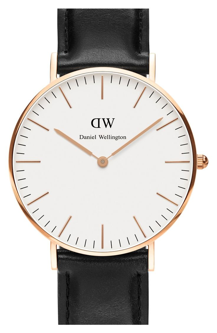 Daniel Wellington 'Classic Sheffield' Leather Strap Watch, 36mm | Nordstrom
