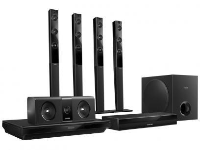Home Theater Philips HTB5580X/78 com Blu-Ray 3D - 1000W 5.1 Canais Bluetooth Função Karaokê e HDMI com as melhores condições você encontra no Magazine Sualojaverde. Confira!