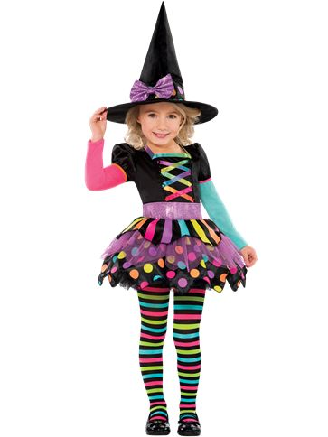 Miss Matched Witch - Toddler & Child Costume front