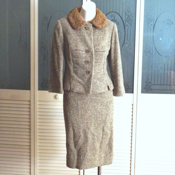 Vintage Sibley's Paul Blumenstein Heavy Wool Suit Persian Lamb Collar by NotSewIdle on Etsy