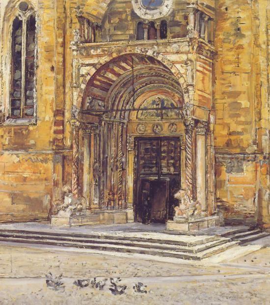 Verona romanica,  la Cattedrale illustrata da ... epoca 1800 c.
