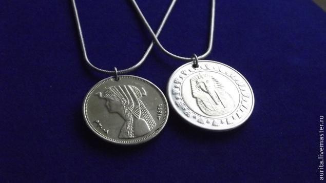 Медальоны из монетки сокровища Египта. - Ярмарка Мастеров - ручная работа, handmade