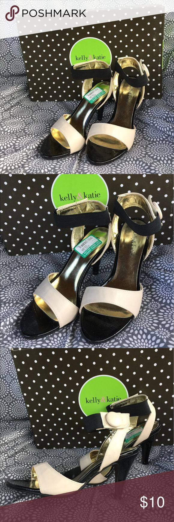 New Kelly & Katie Black & Cream High Heels Size 6 Kelly & Katie high heeled shoes in black n cream color.  Model name Jacqueline.  Size 6.  New never worn. Kelly & Katie Shoes Heels