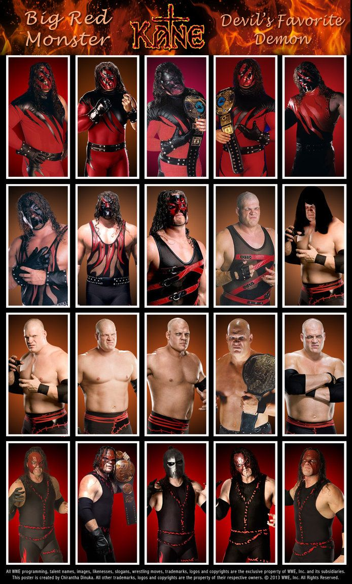 The Undertaker Poster featuring his various looks & ring attire throughout his career.