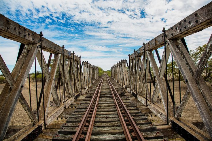 Disused rail bridge  Walgett NSW Ausralia