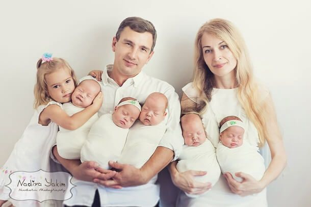 Oksana Kobeletskaya became mum of six after giving birth to quintuplets: three boys and two girls via c-section