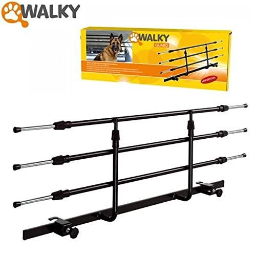 Walky Guard Adjustable Car Barrier for Pet Automotive Safety - WalkyGuard, is a headrest mounted universal dog guard. Made from high quality powdered coated steel. Cleverly designed telescopic bars allow for a very neat fit. Quick and easy to assemble, without needing any tools! This guard is easily adjustable to fit any car fitted with rear headrests, it... - http://ehowsuperstore.com/bestbrandsales/automotive/walky-guard-adjustable-car-barrier-for-pet-automotive-safety