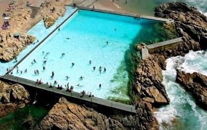 Amazing Outdoor pool - PISCINA DAS MARÉS - by Arq. ÁLVARO SIZA in Leca da Palmeira, Portugal!