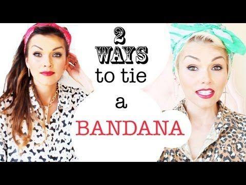 2 Ways to Tie a Bandana... great video!!!  Follow Kandee's blog: kandeej.com