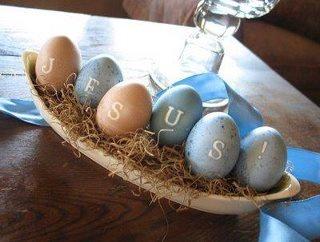 Jesus Easter eggs for a table centerpiece or decoration!