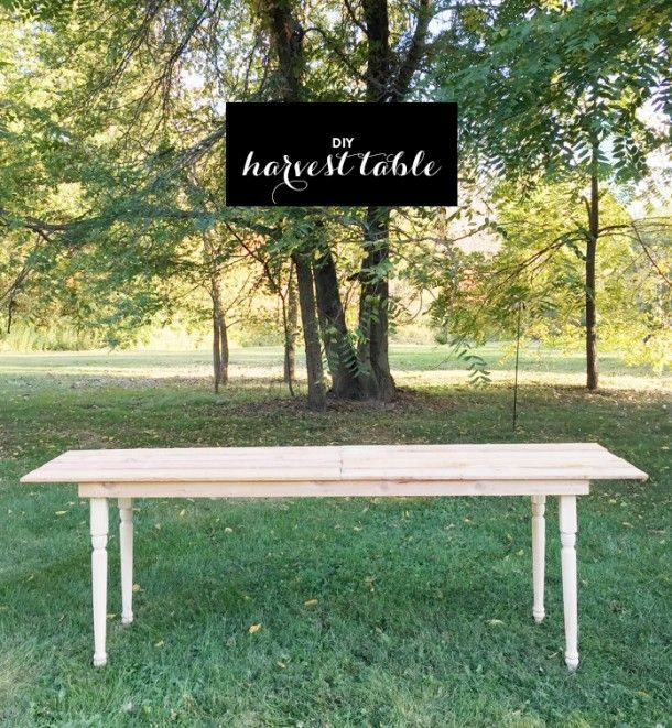 DIY 10-Foot Harvest Table for under $80