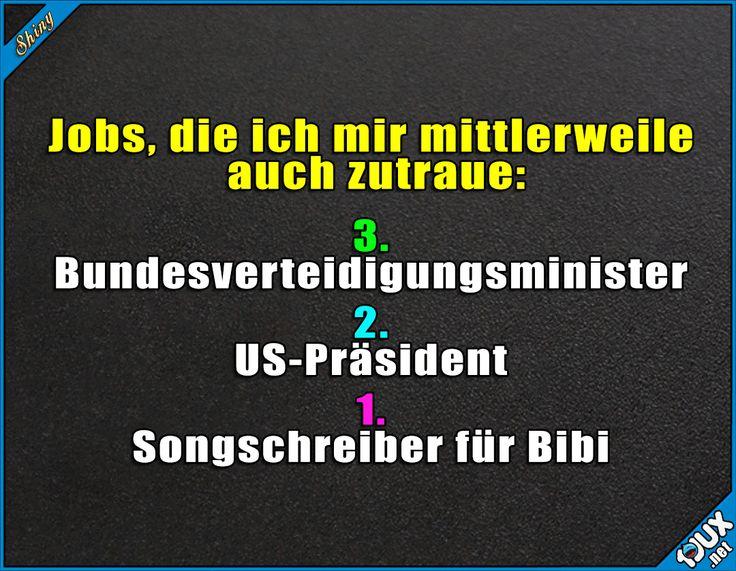 Wo kann ich mich bewerben? :P #BibiH #BibisBeautyPalace #HowItIs #Bundesverteidigungsministerin #Präsident #nurSpaß #Humor #lustig #lachen