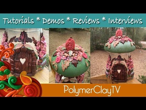 Fabulous Polymer Clay Mushroom Fairy House by Polymer Clay TV