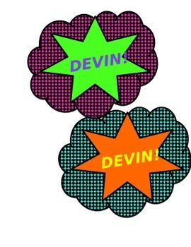 Make your lockers pop with these colorful, super hero locker name tags. Different color combinations give you a few options while maintaining a unified look. Can be used for other labeling as well! Print, cut, packing tape and done!