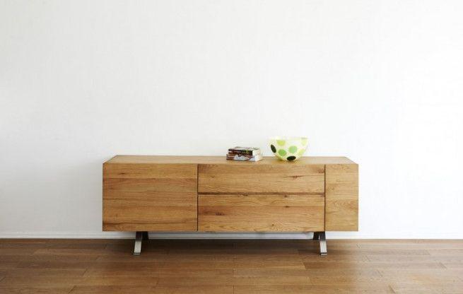 #Sideboard Wildeiche massiv 165 cm | #Holz #Eiche