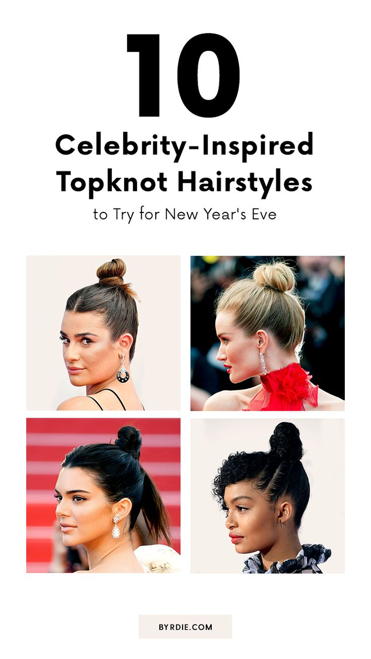 The best topknot hairstyles to wear for New Year's Eve