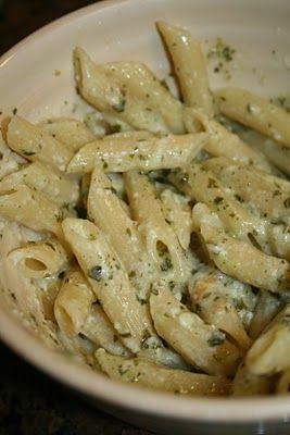 Lola's Homemade Cooking: Penne Parmesan Pesto Pasta