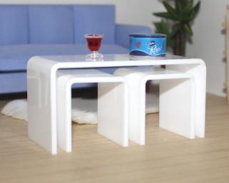 White Acrylic Nesting Tables