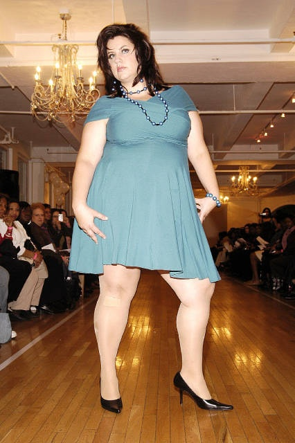 it's a miracle! an actual plus-size woman modeling decent plus
