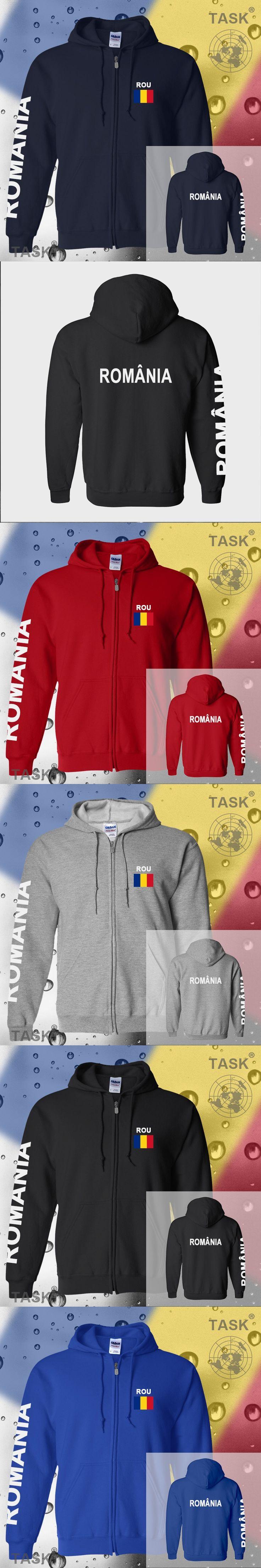 Romania Rou mens hoodies and sweatshirt jerseys polo sweat new streetwear tracksuit nation fleece zipper flag Romanian Spring