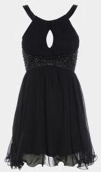 Rochie neagra majorat. Aceasta rochita o gasiti aici: www.dreamfashion.ro