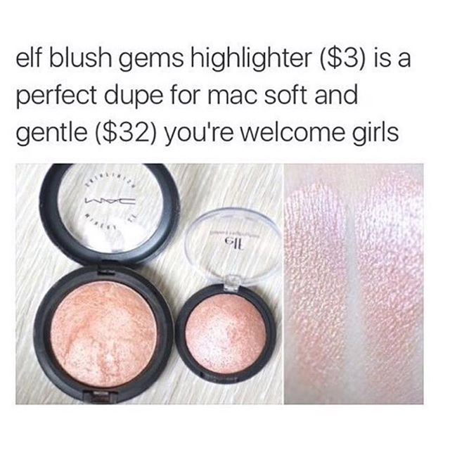 I have the elf highlighter it works really well I love it I recommend it cheaper than all high end makeup products and works amazing