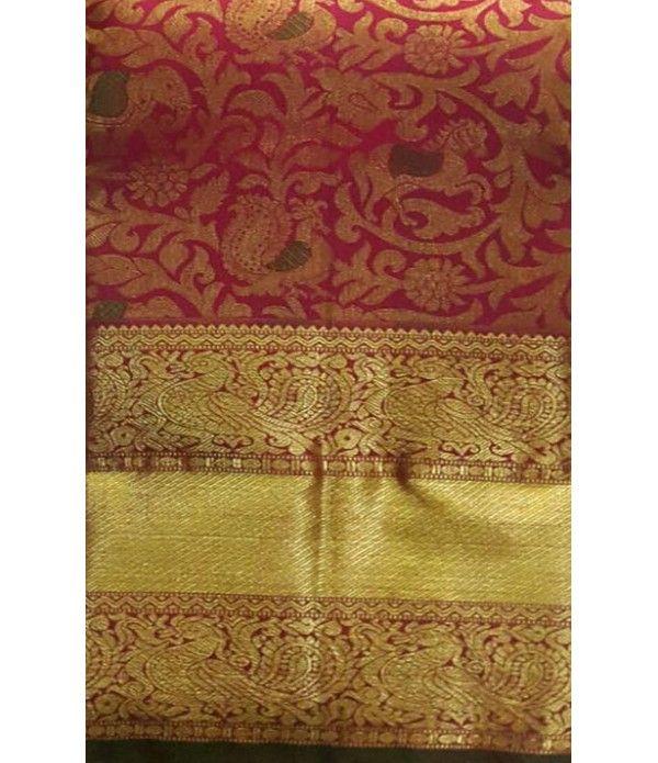 Pink Pure Handloom Kanjeevaram Silk Saree