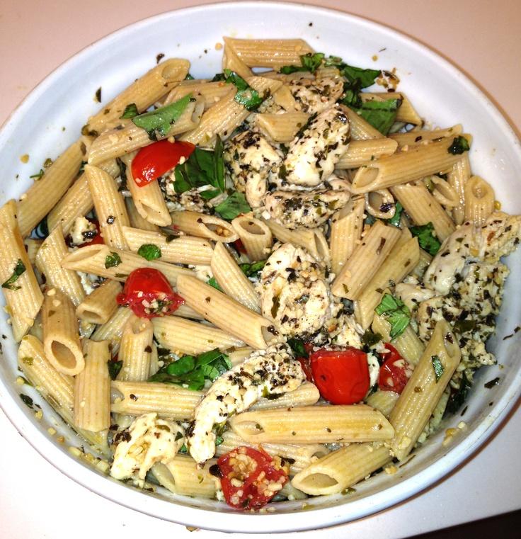 Spaghetti With Sauteed Chicken And Grape Tomatoes Recipe ...