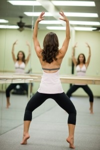 Barre method.. LOVE. Help me get back the legs I had when I took ballet!