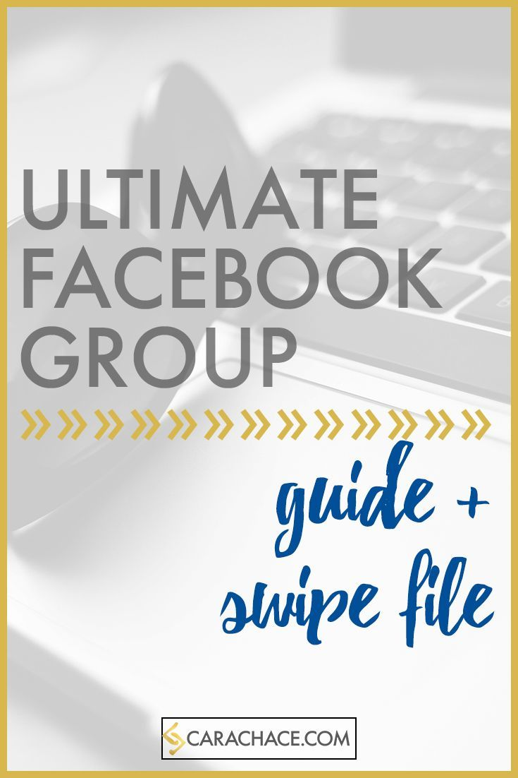 Free Ultimate Facebook Group Guide and Swipe File. Designed for solopreneurs, entrepreneurs, and small business owners. Part of my Facebook Marketing Strategy. http://carachace.com